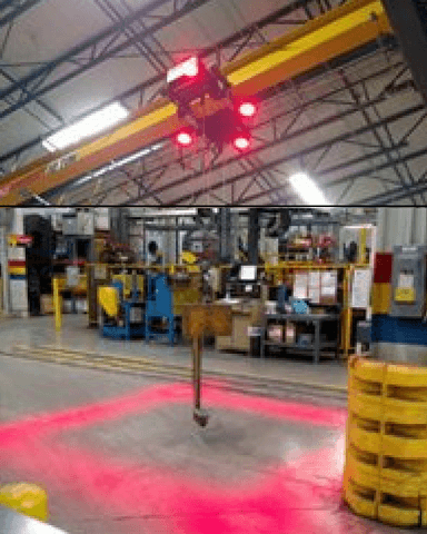 Overhead Crane Warning Safety Light Your Safty Zone